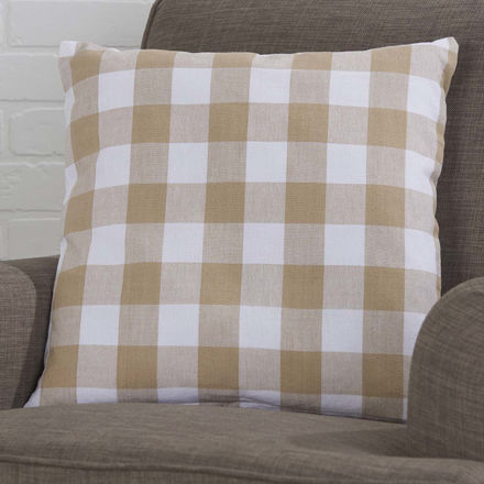 Picture of Buffalo Check Pillow Cover, Tan
