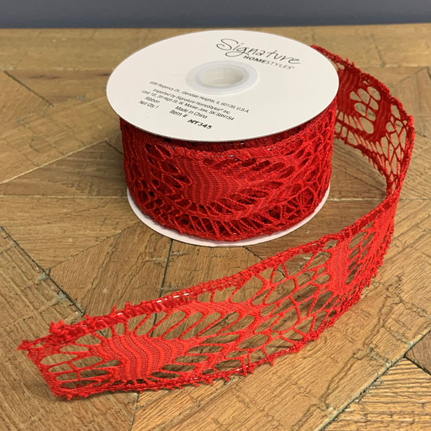 Picture of Lace Ribbon Red, (Set/2)
